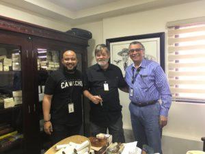 With Wilbur and Eladio Diaz / Davidoff Cigars