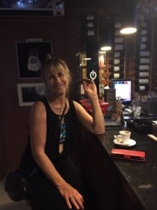 This is a Nice pic of Debbie dolled up at Puerto Plata Cigar Club in the Dominican Republic