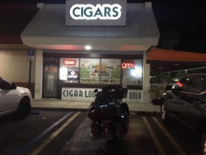 this pic is from outside of Cigar Bundles at night with my bike in the pic