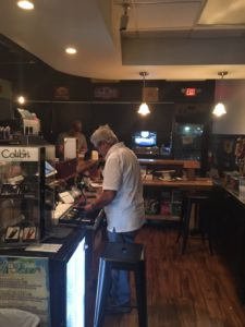 This is a pic of Jésus (pronounced Hesoos) behind the counter