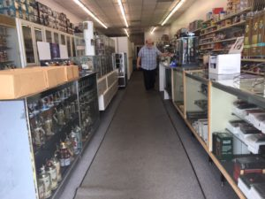 pic of the counter on the right at Williams Tobacco