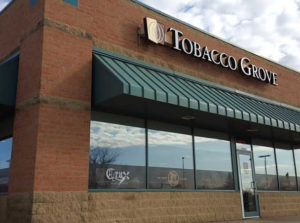 This is a pic outside looking at Tobacco Grove, where the sell Davidoff Cigars
