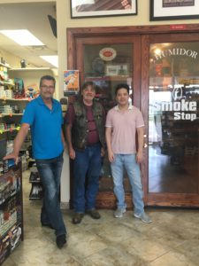 Pic of me and Mark and Albert, the owner of the Smoke Stop