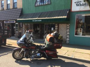 Pic of my Bike in front of Cigar Shoppe