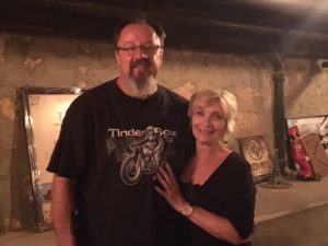 Pic of Chris and Caroline, owners of the Tinder Box in Rapid City SD
