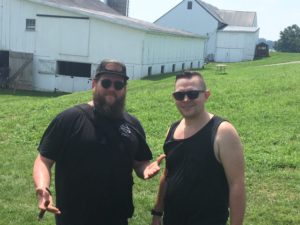 pic of Ben and Nate at Barn Smoker