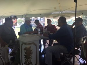 Pic of the guys from Live From The Lounge at the Barn Smoker