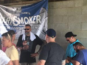 Pic of Willie Herrera Master Blender from Drew Estates at Barn Smoker