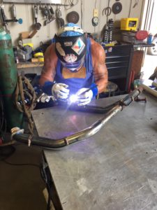 pic of Julio welding my new exhaust