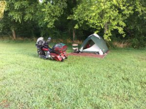 pic of my camp at Cherohala motorcycle. camp ground