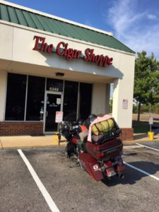 Pic of my Road Glide in front of The Cigar Shoppe in Montgomery, AL