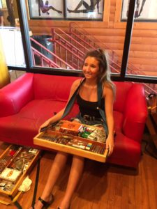 Pic of Delane in the humidor at One Eyed Jacks
