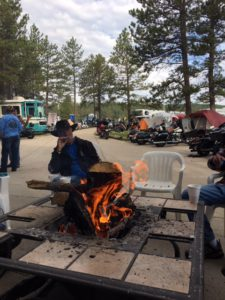 Pic of the camp fire where I camp