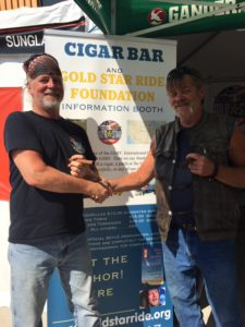 Pic of me and Tony from Gold Star Ride Foundation shaking hands