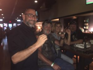 Pic of Phil, me, Deb and Trace in the Tinder Box