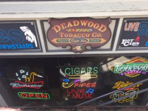 Pic of the sign at Deadwood Tobacco Company