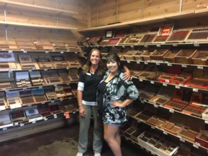 Pic of Tommy and Selena (they are both girls) at Smoker Friendly in Bozeman, MT