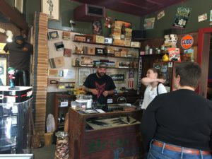 Pic of Chris at the counter at the Briar Patch
