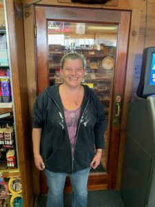 Crystal in front of humidor door