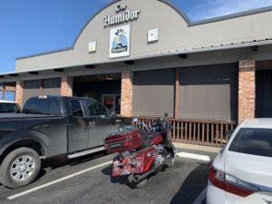pic of my bike outside of Club Humidor