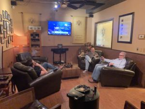 Pic of Mike, Mike and Erich in the members lounge