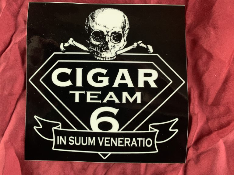 Cigar Team 6 Sticker pic that Shennen gave me