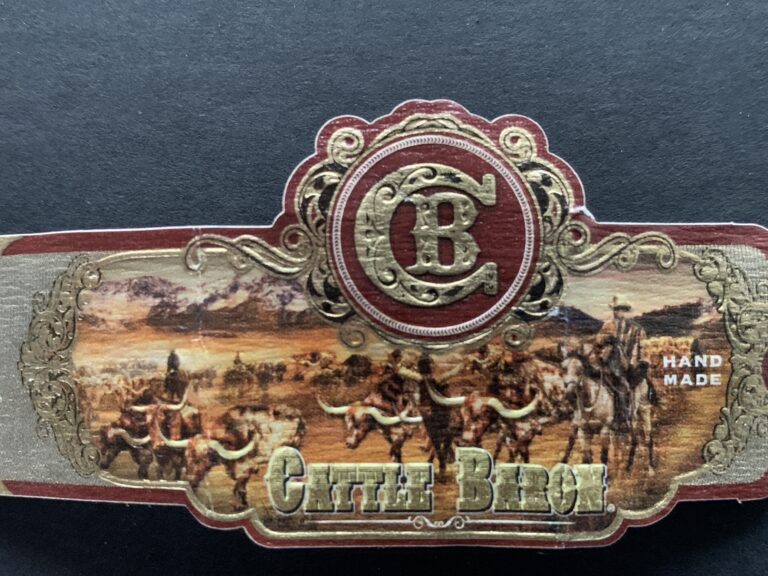 Pic of a Cattle Baron Cigar band