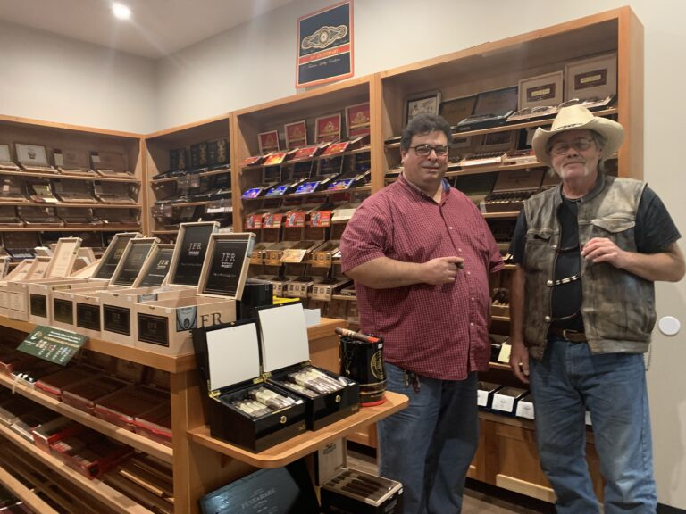 pic of Butch and me in the humidor