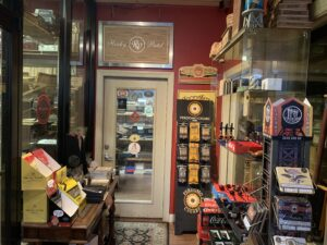 Pic of hall way to humidors