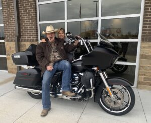 Pic of Deb and Me on the 2015 Road Glide