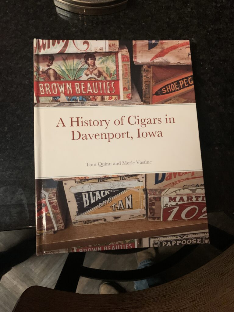 Pic of the book, A history of cigars in Davenport