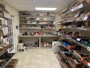 In the humidor at Butler Cigars